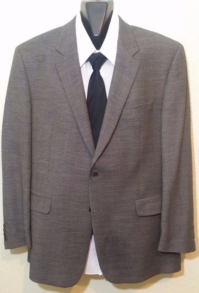 Ermenegildo Zegna Italy 100% Wool COPPLEY Bocelli 2 Button Blazer 44 Big & Tall #Coppley #ThreeButton