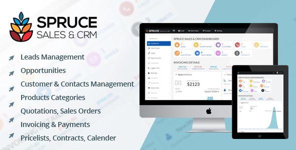 Spruce Sales & CRM   Code Script   Sales crm, Crm system, Create invoice