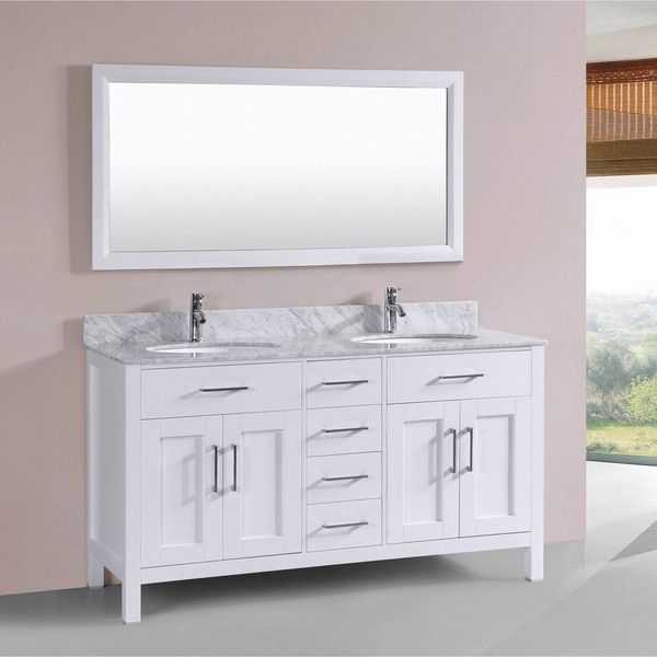 Best 60 Inch Belvedere Modern White Double Sink Freestanding 400 x 300