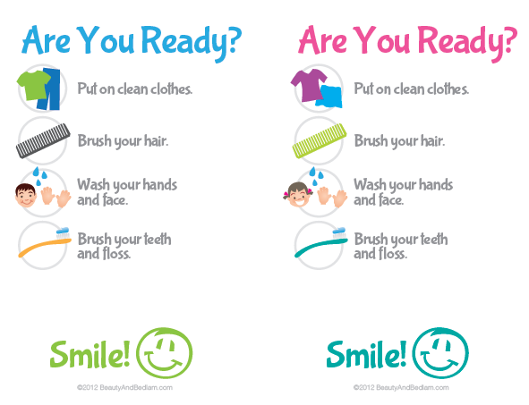 Print This Free Kids Hygiene Checklist And Easily Help Them Develop Those Simple Routines Each