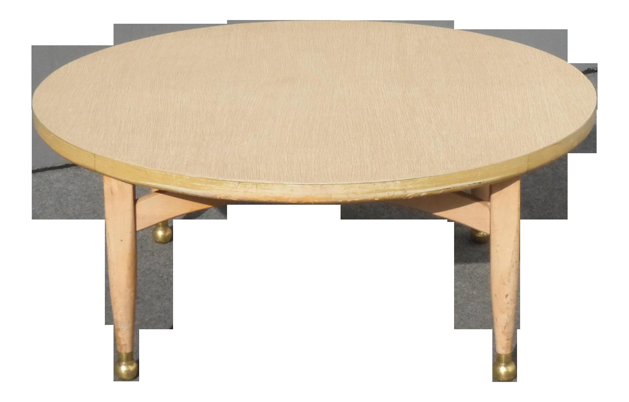 Vintage Danish Mid Century Modern Style Round Coffee Table Peg Leg Gold Feet Coffee Table Round Coffee Table Mid Century Modern Style [ 1304 x 2039 Pixel ]