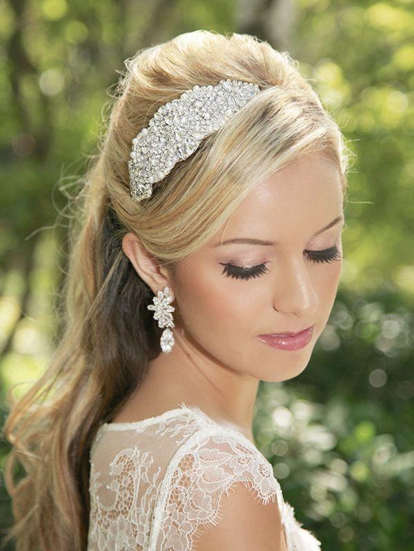 glam bridal hair accessories rhinestone