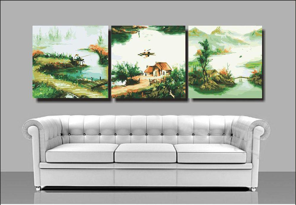 Картина по номерам «Пейзажи рыбацкой деревни» MT3034 ...