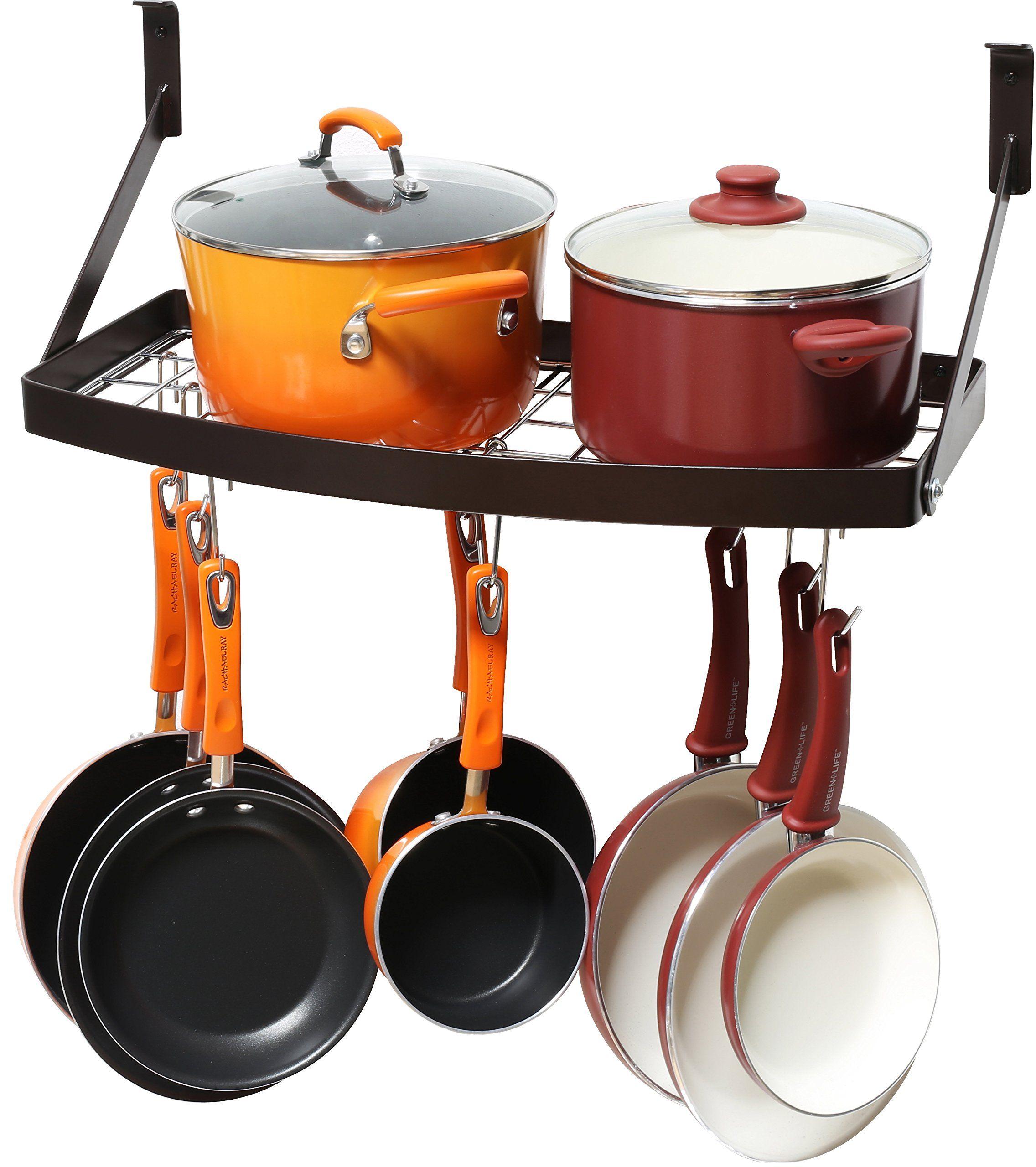Robot Check Pot Rack Kitchen Wall Mounted Kitchen Storage Cookware Storage
