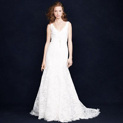Sara Lace Gown I Think J Crew Has Good Dress Possibilities But None Of Them Fit The Models Corre Wedding Gowns Lace Used Wedding Dresses Cheap Wedding Dress
