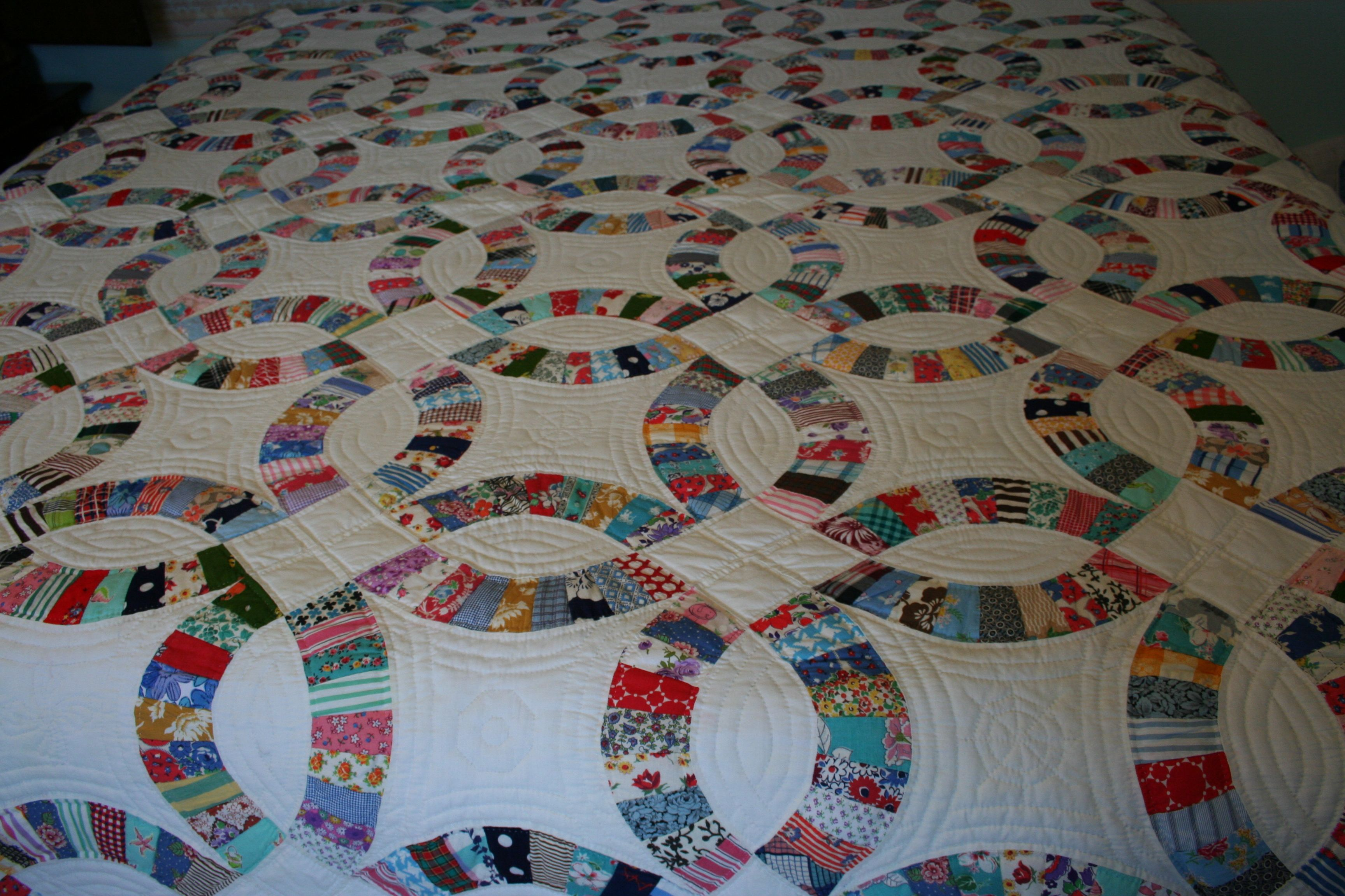 Dwr Double Wedding Ring Quilt King Size Hand Quilted Double Wedding Ring Quilt Quilt Patterns Quilts