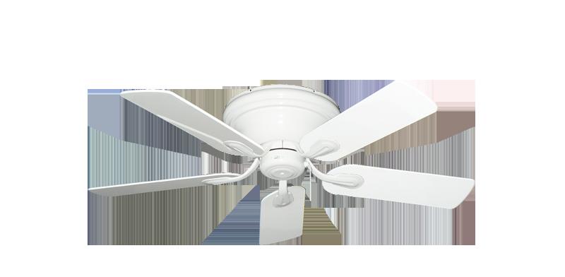 Stratus Hugger Ceiling Fan In Pure White With 44 Pure White Gloss Finish Hugger Ceiling Fan Ceiling Fan Fan