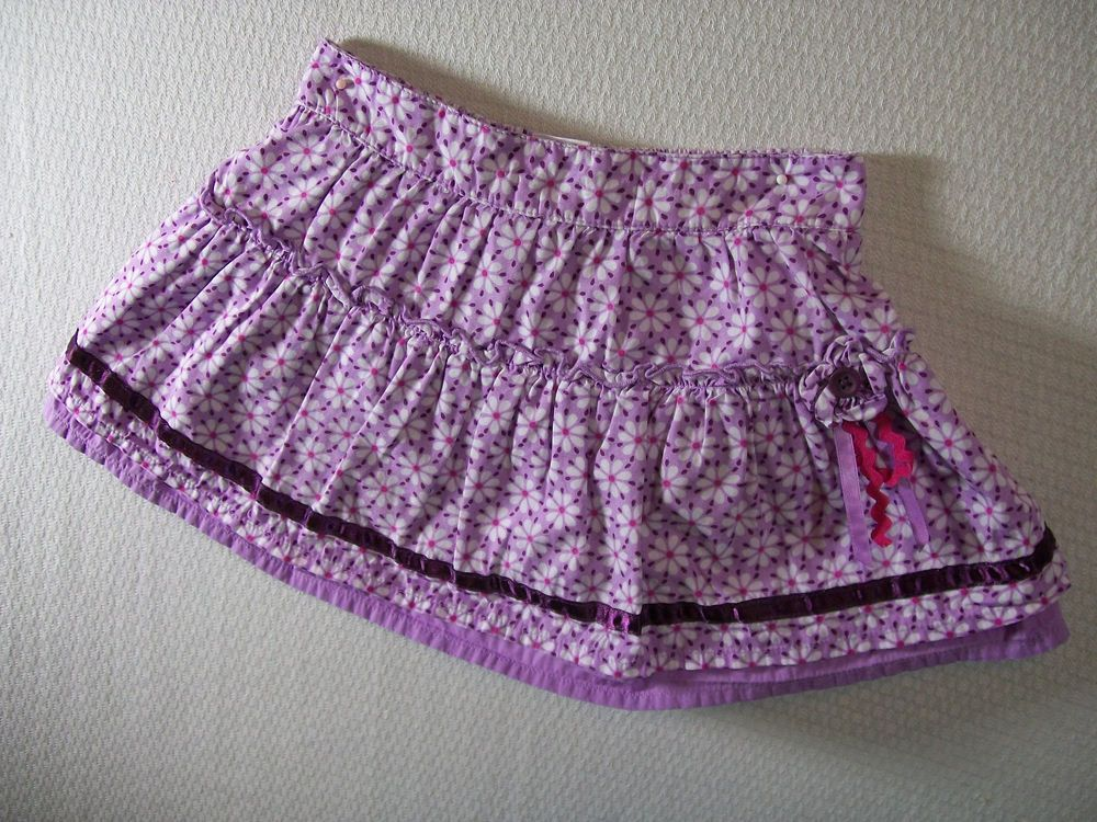 Carter's Girls Size 24 Months Purple Skirt 100% Cotton Spring Everyday Floral #Carters #Everyday