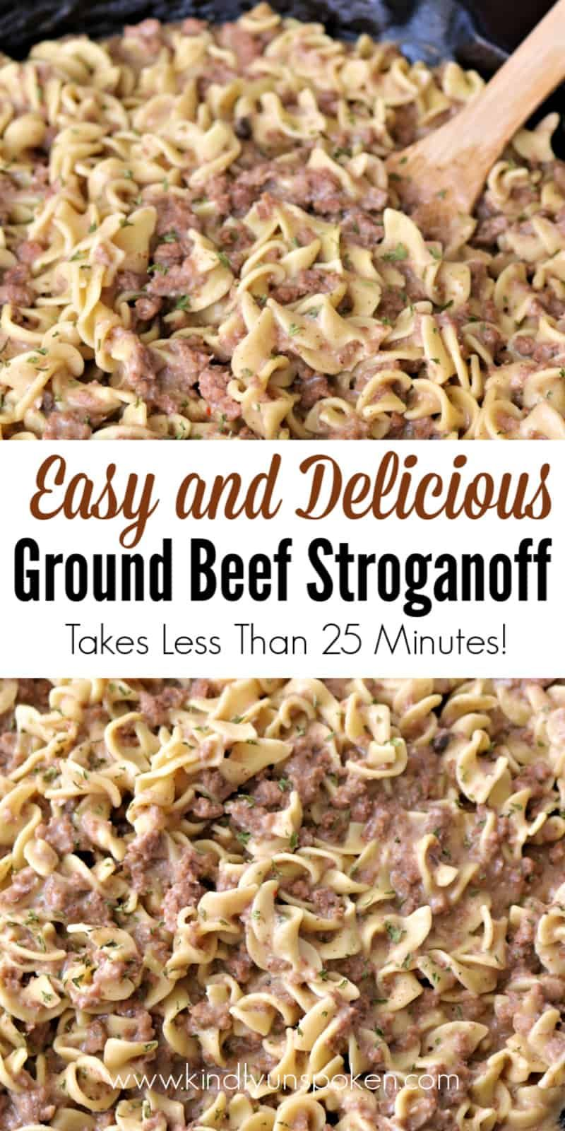 Easy Ground Beef Stroganoff 25 Minute Meal Recipe In 2020 Ground Beef Stroganoff Dinner With Ground Beef Beef Stroganoff