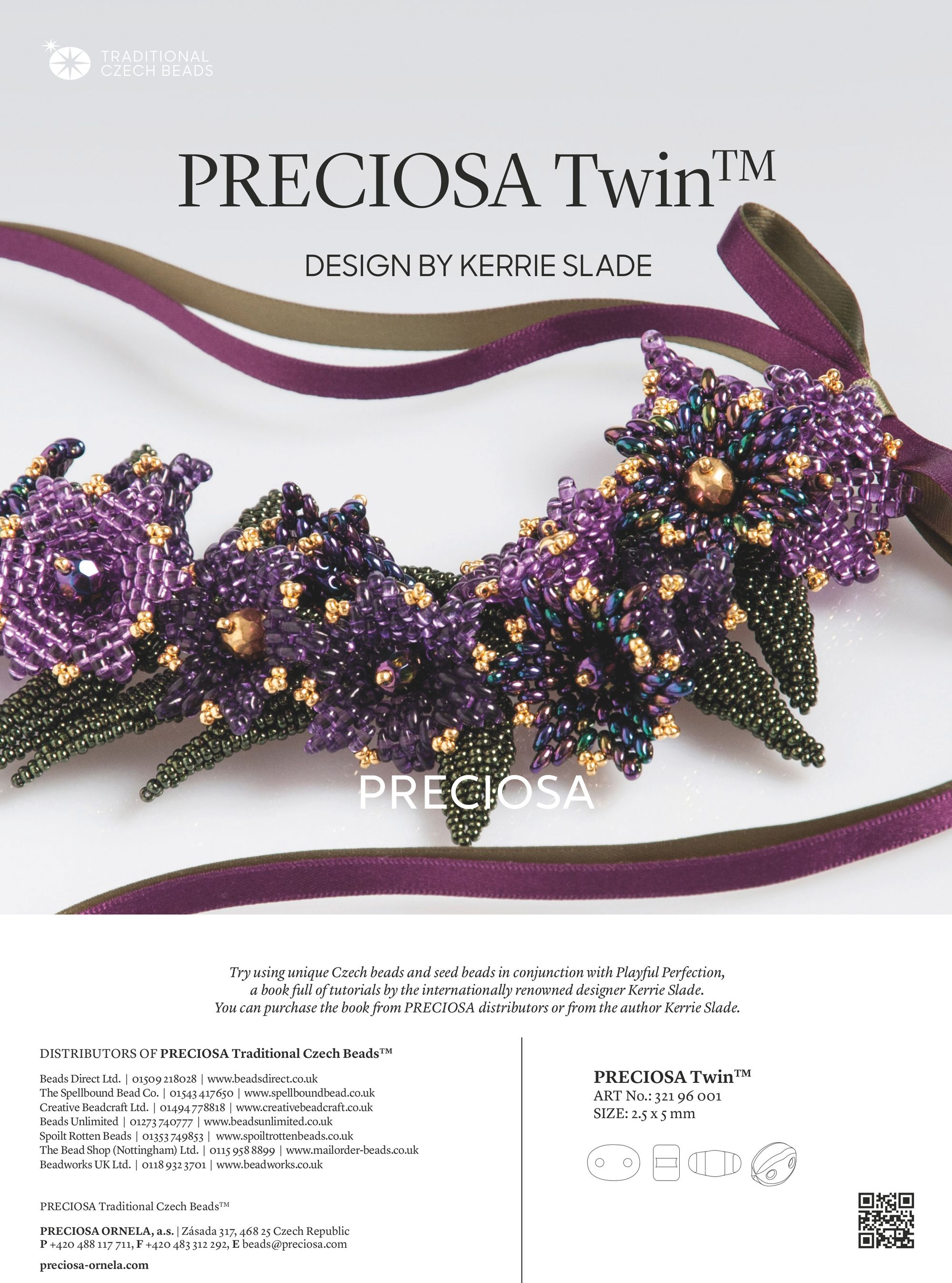 tropical twins bracelet used in the preciosa ornela advert in bead and jewellery magazine issue 81