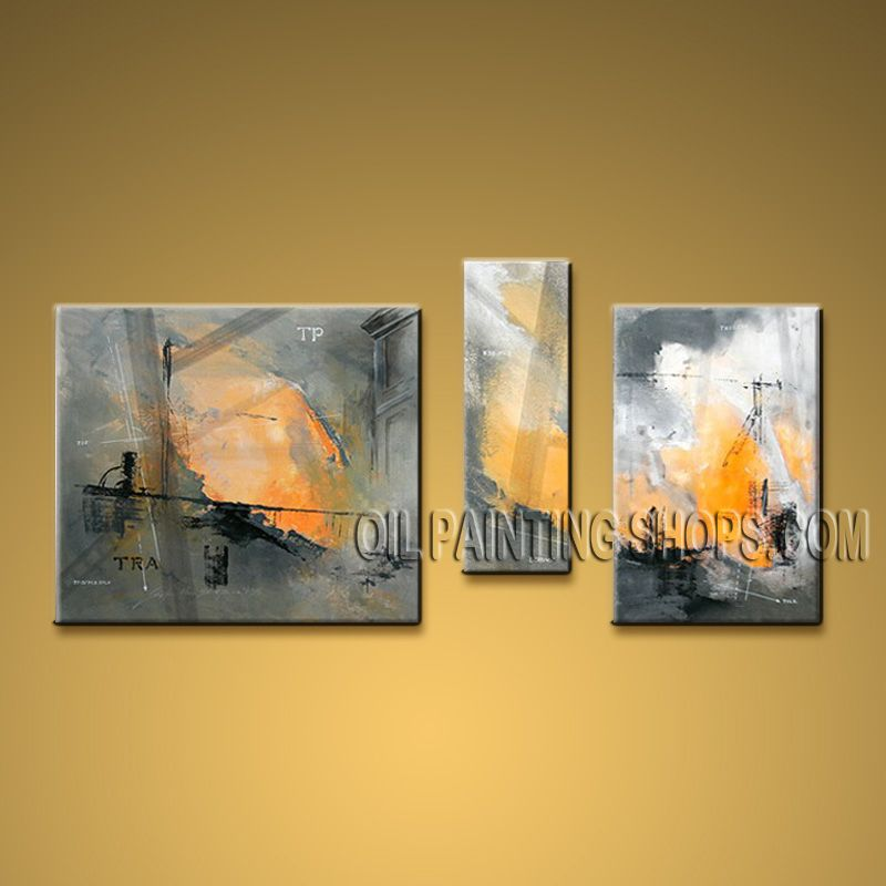 Hand Painted Elegant Modern Abstract Painting Wall Art Decoration ...