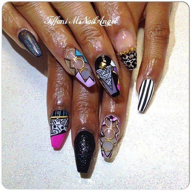 Retro Nail Art Msnailangels Nails Pinterest