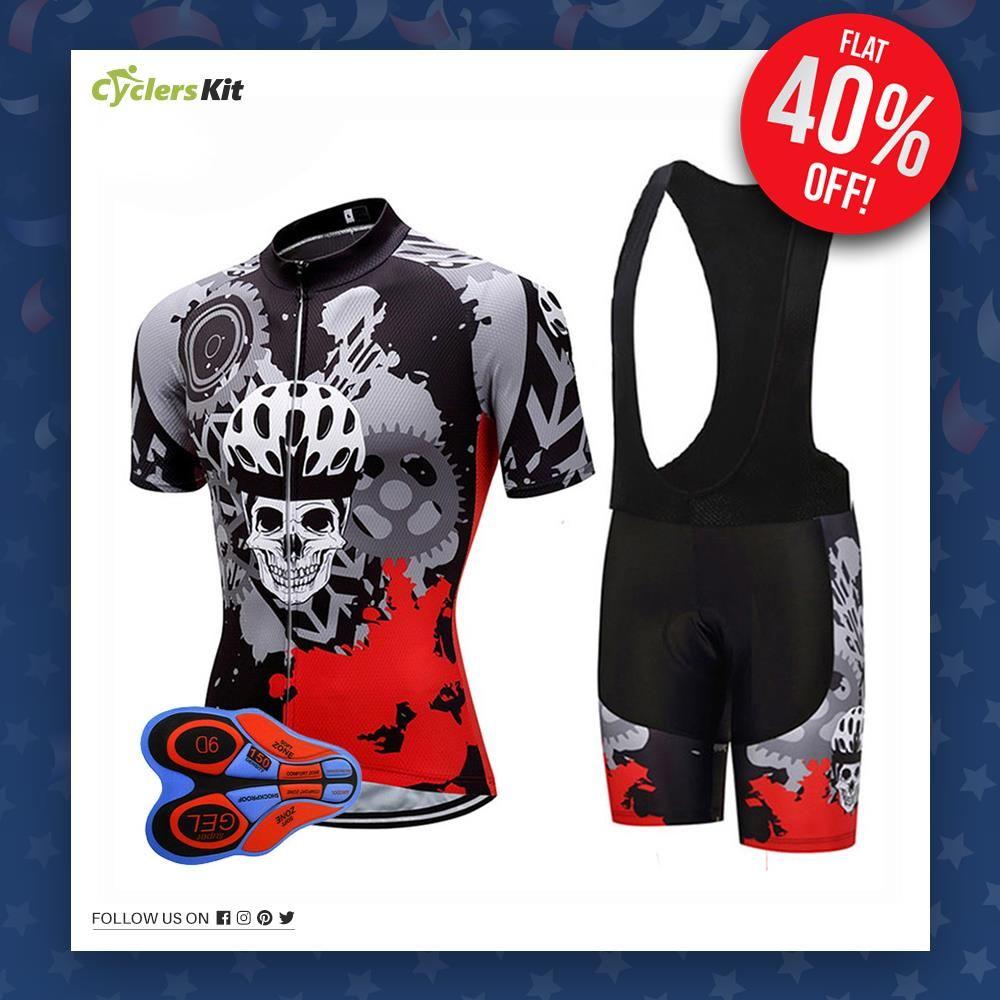 Fallen Edition Men's Short Sleeve Cycling Jersey Set ...
