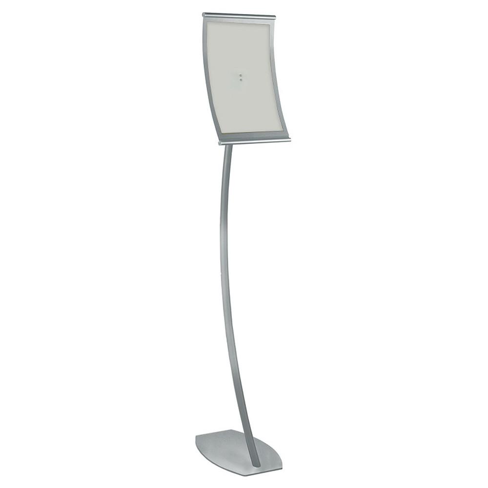 Azar 8 5 X 14 Curved Metal Frame Sign Holder Floor Stand