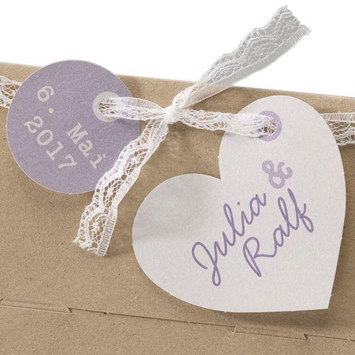 """Hochzeitseinladung """"Lucie"""" - kreative Einladungskarte zur Hochzeit im Kraftpapierlook weddix"""