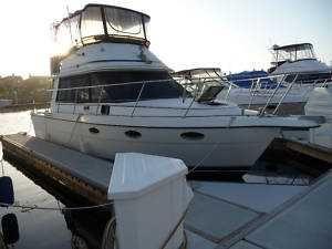 1988 Cooper Prowler 35 Fly Bridge Sedan For Sale Motoryacht Cruiser Boats Classic Yachts Sedan Boat