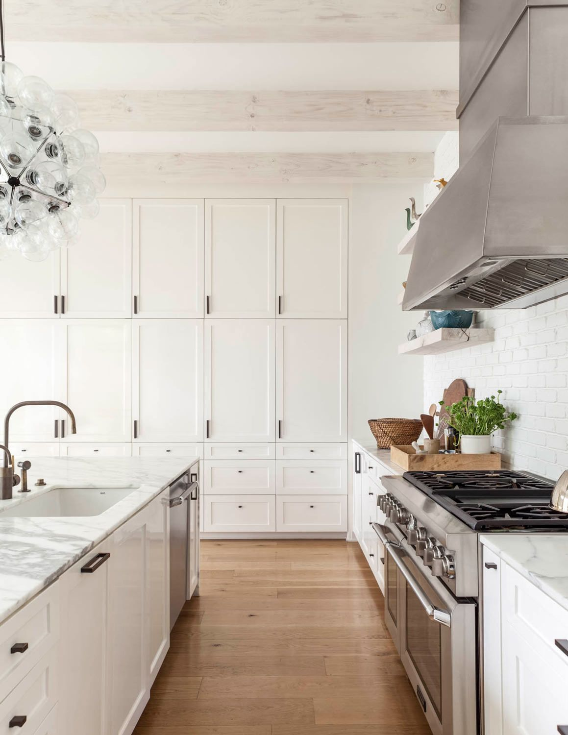Cabinetry whitewashed beams kitchen ideas pinterest beams