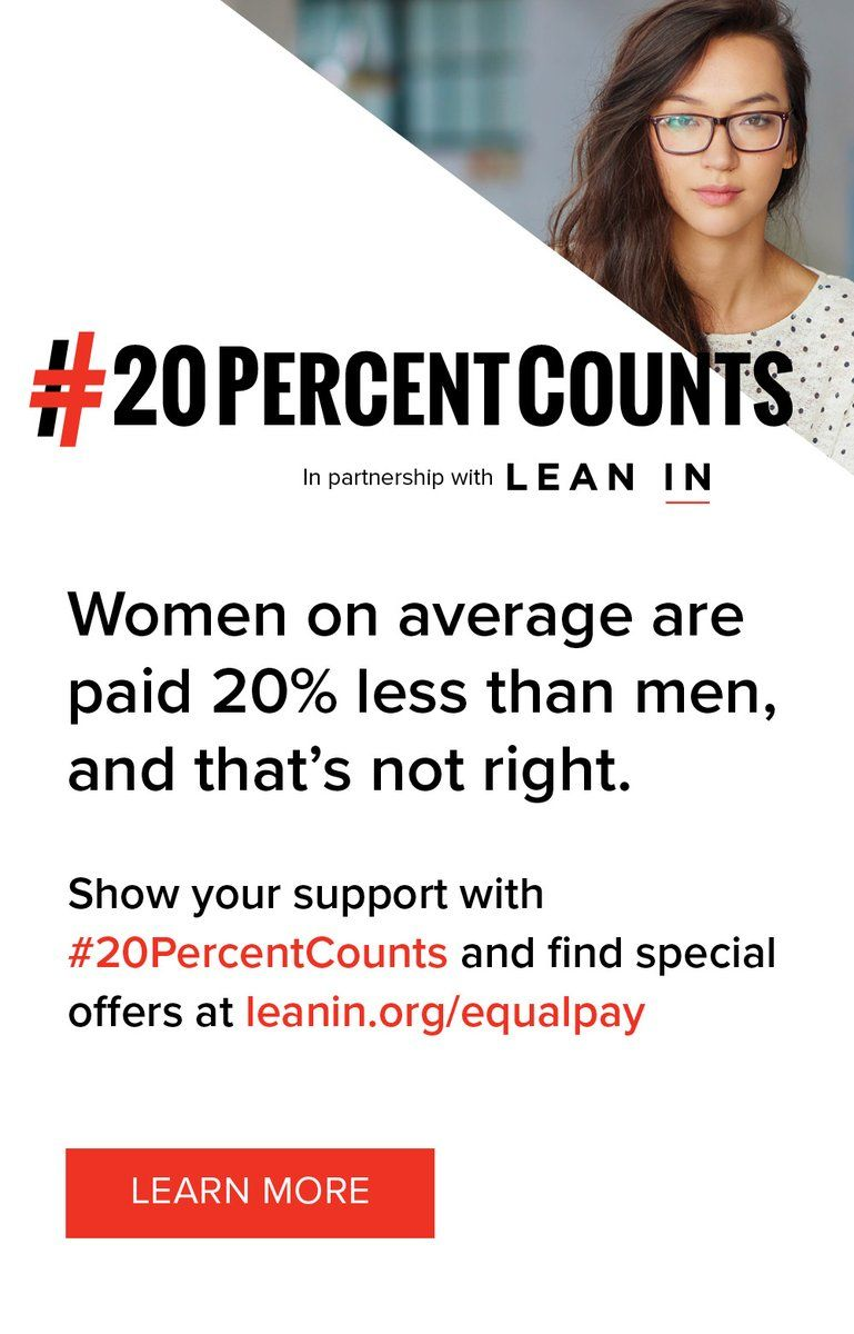 Sheryl Sandberg's #20PercentCounts is your new Equal Pay mantra https://t.co/ouqEJ7aQC9