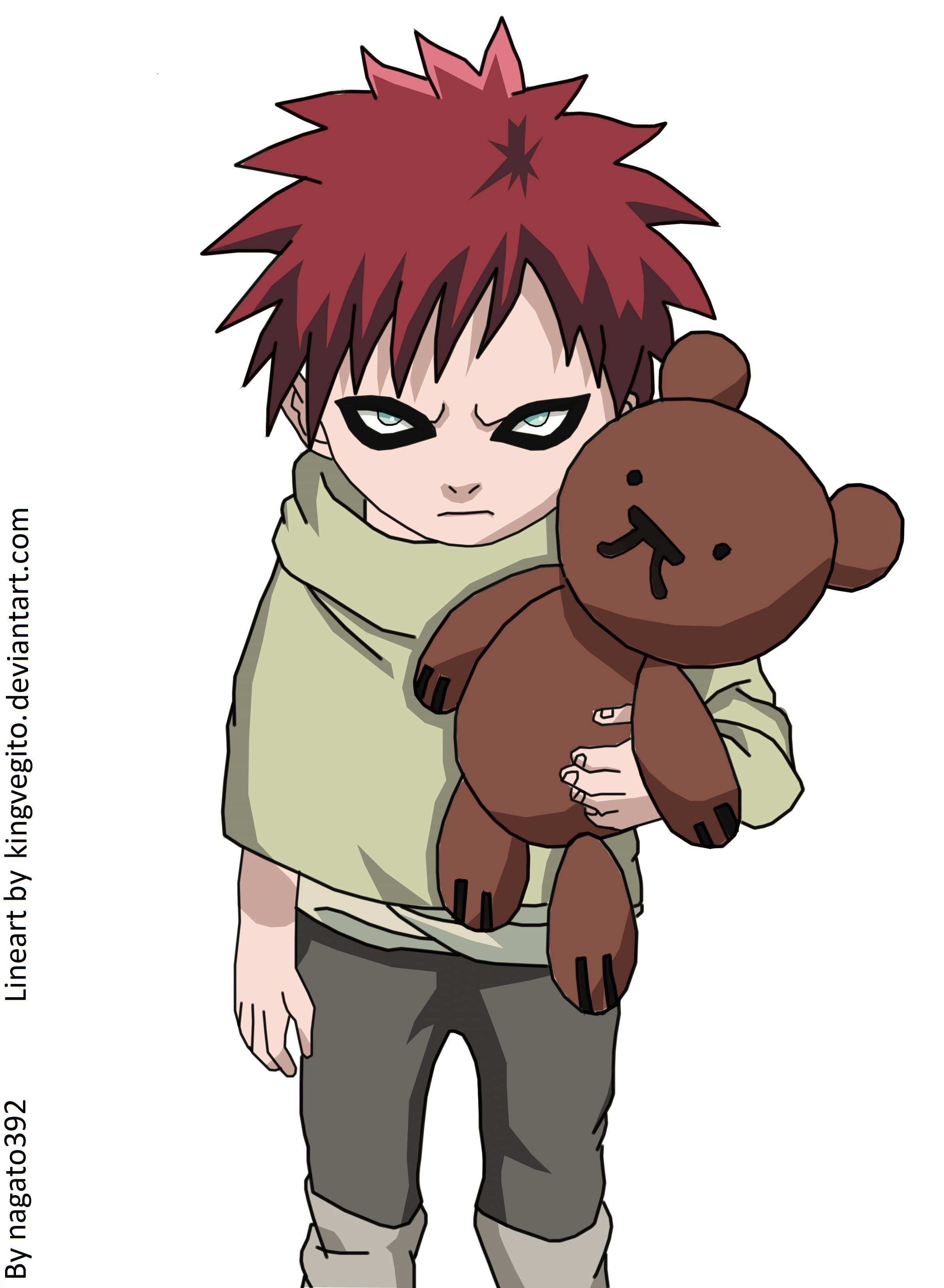 little gaara....cute and creepy *Correction, Any aged