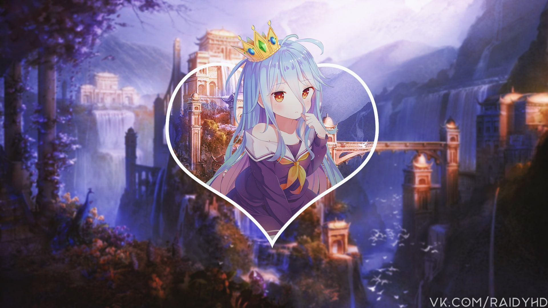 anime anime girls pictureinpicture Shiro (No Game No