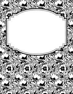 Free Printable Black And White Flower Binder Cover Template