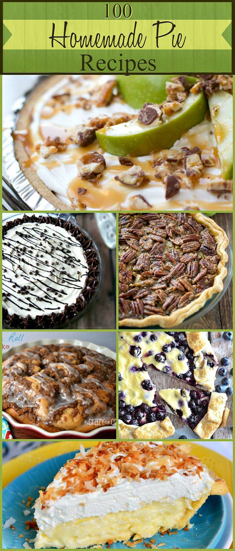 100 Creamy and Delicious Homemade Pie Recipes - SewLicious Home Decor