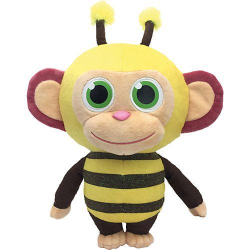 Aus dem Hause JOY TOY kommt diese lustige Wonderpark Biene, die nach leckerer Zuckerwatte duftet. Ihre großen grünen Augen und das freche Grinsen verbreiten sofort gute Laune, während die glitzernden Streifen aus ihr einen wahren Hingucker machen! Die tolle Biene ist ein treuer Begleiter für alle Abenteuer, liebt es aber auch gekuschelt zu werden.  Details: - Wonderpark Plüschbiene - mit Zuckerwattenduft - mit lustigen Details - Streifen mit Glitzereffekt  Maße: - Höhe: ca. 36 cm  Material: 100%