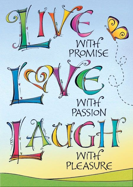 Live Love Laugh Birthday Card Joanne Fink Pinterest Birthday