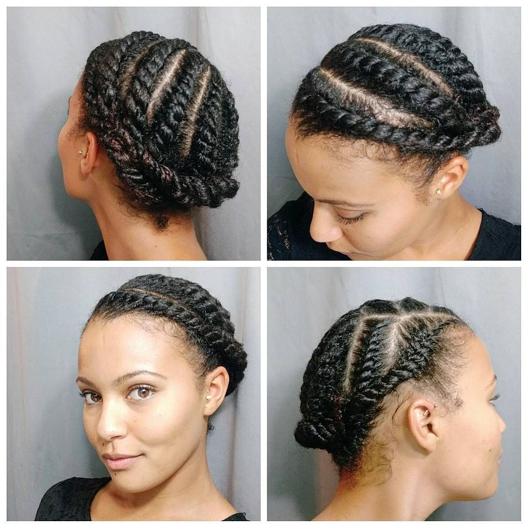 flat twist hair style today s style after washing my hair i did large flat 9548