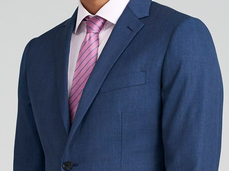 3af2af3cdaa7 The perfect Men's Custom Suit in Hereford Cavalry Twill Navy Suit fabric,  styled for your