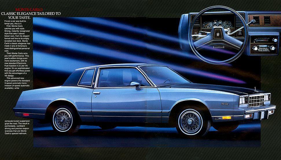 1985 Chevrolet Monte Carlo Chevrolet Monte Carlo Chevrolet
