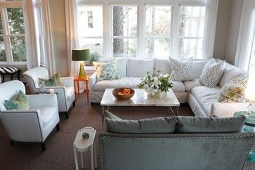 makeover of an estate - traditional - family room