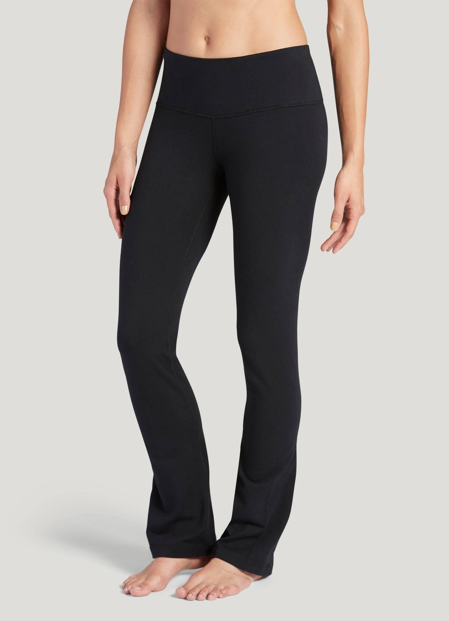 74e88653c805f Jockey Cotton Stretch Slim Bootleg Pant, black, S | Workout Clothes ...