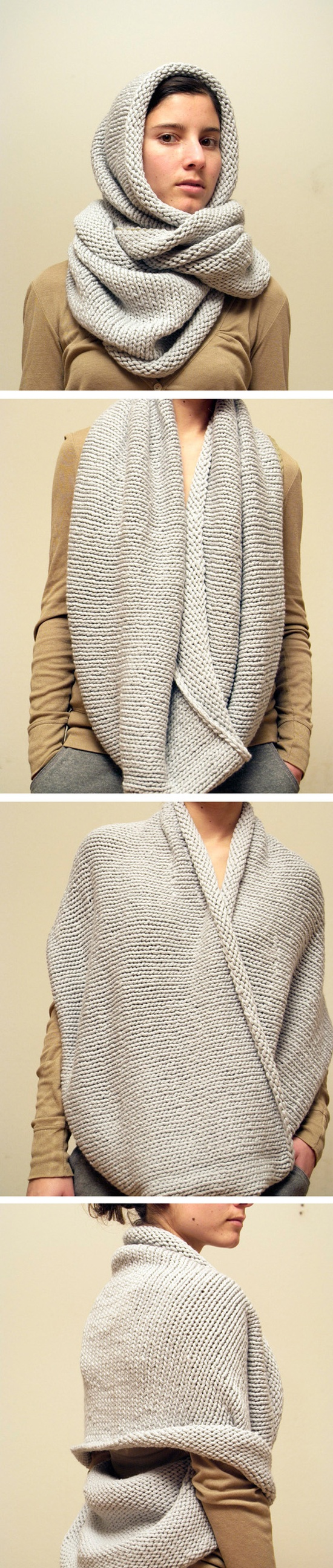 4 Different ways to wear a snood / eternity scarf. I would add a ...