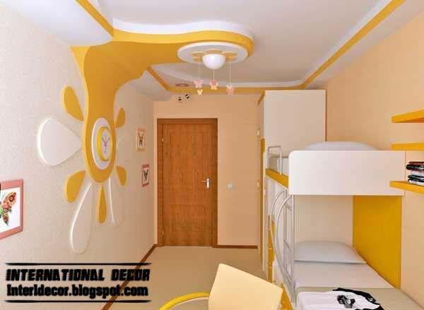 Creative Ceiling Design Ideas For Kids Room 1 Jpg ٦٠٠ ٤٣٩ Pixels Ceiling Design Bedroom Creative Kids Rooms Pop False Ceiling Design