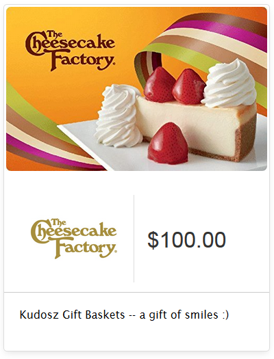 Chance to Win a Cheesecake Factory $100 Gift Card! Offering more than 200 menu…