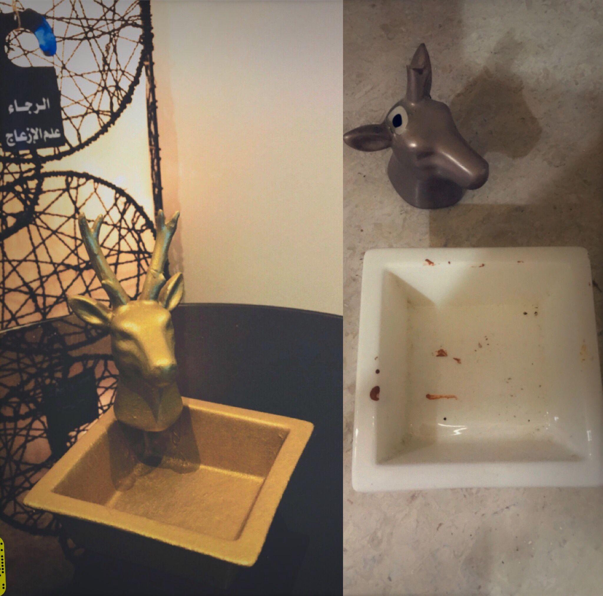 أعادة تدوير صحن وراس لعبه لـ طفاية سجائر فن رسم تصميم تحف ديكور رسوماتي مجسمات اعمال Decor Home Decor Sink