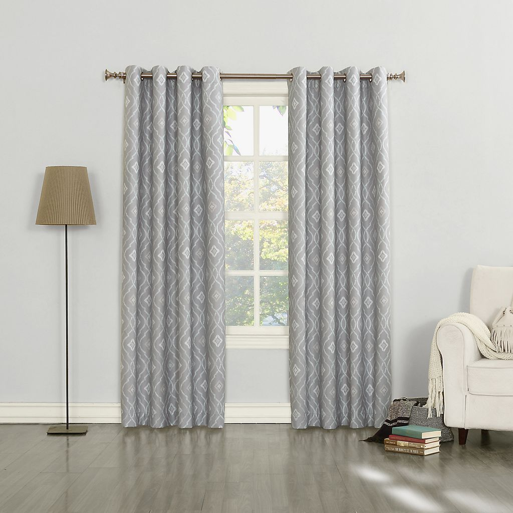 Sun Zero Sylvie Thermal Lined Curtain Custom Drapes Curtains Curtains Kohls