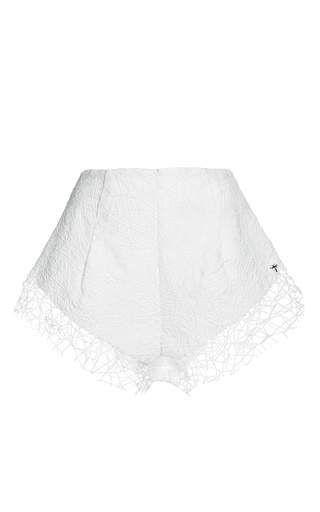 Netted shorts by AGUA DE COCO for Preorder on Moda Operandi