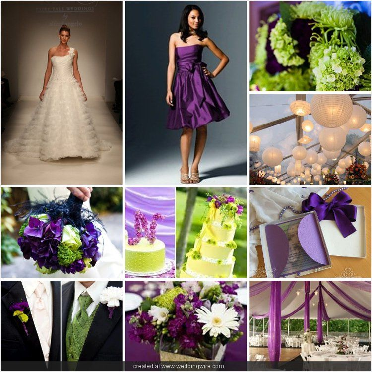 Purple Bright Green Outdoor Wedding Colors Decor Summer Theme Iboard