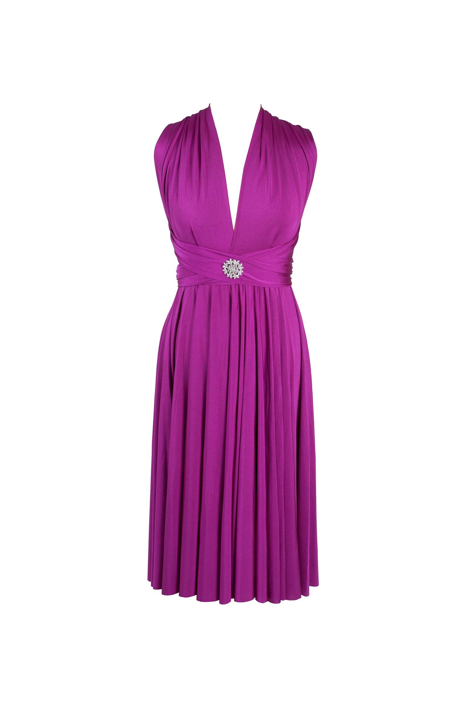 Magenta dress by twobirds Bridesmaid   Weddings   Pinterest