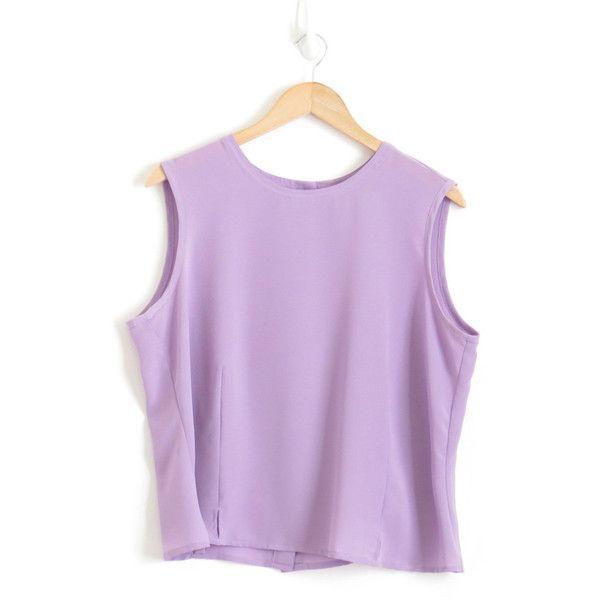 34a0d81d4defb Pastel Goth Back Button Tank Top Muscle Tank Womens Pastel Purple... ( 25
