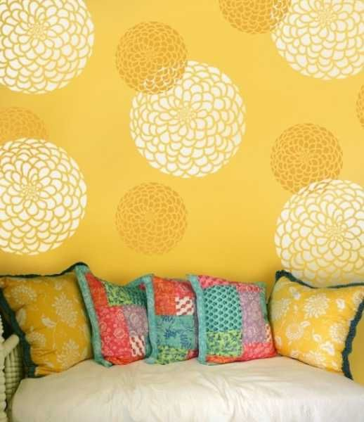 diy wall paint ideas. 20 beautiful diy interior decorating ideas using stencils and paint for modern wall design diy g