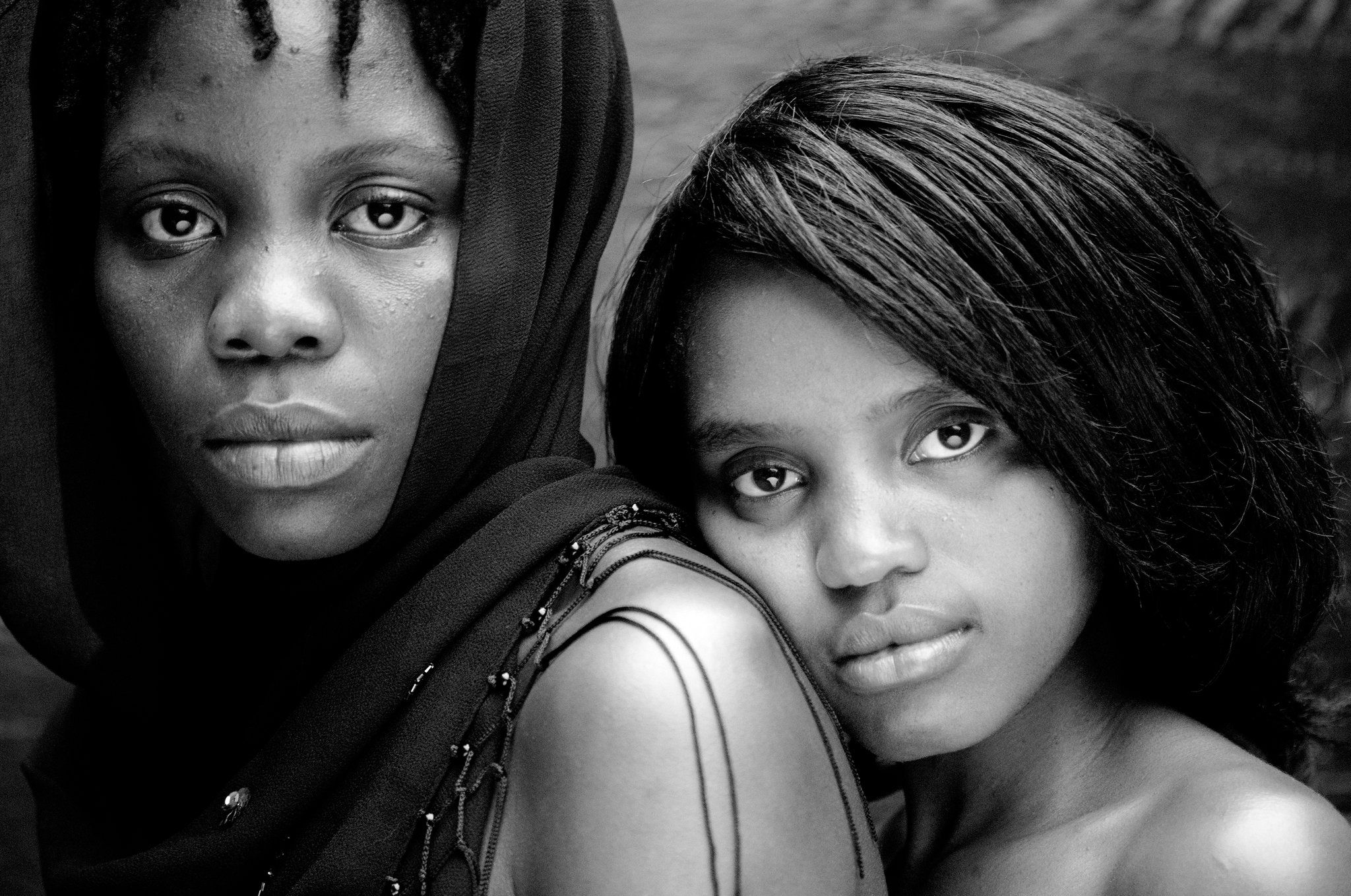 Lesbian black girl with white girl
