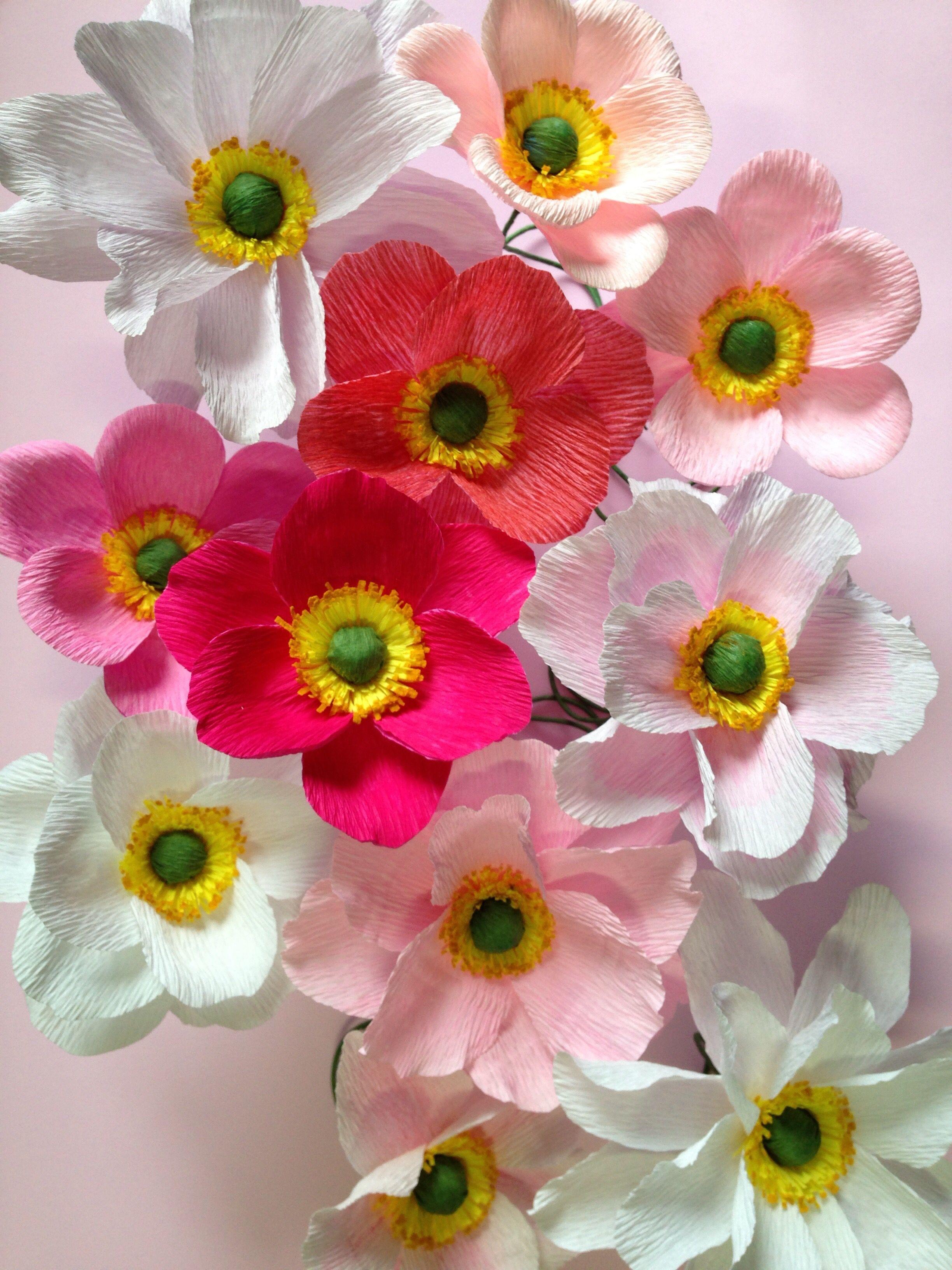 Flores De Papel Crepom Italiano Com Imagens Flores De Papel