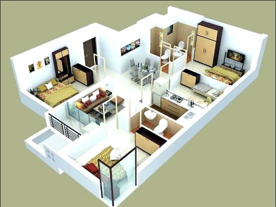 House Design 3 Bedrooms Desain Rumah Kecil Rumah Desain Interior