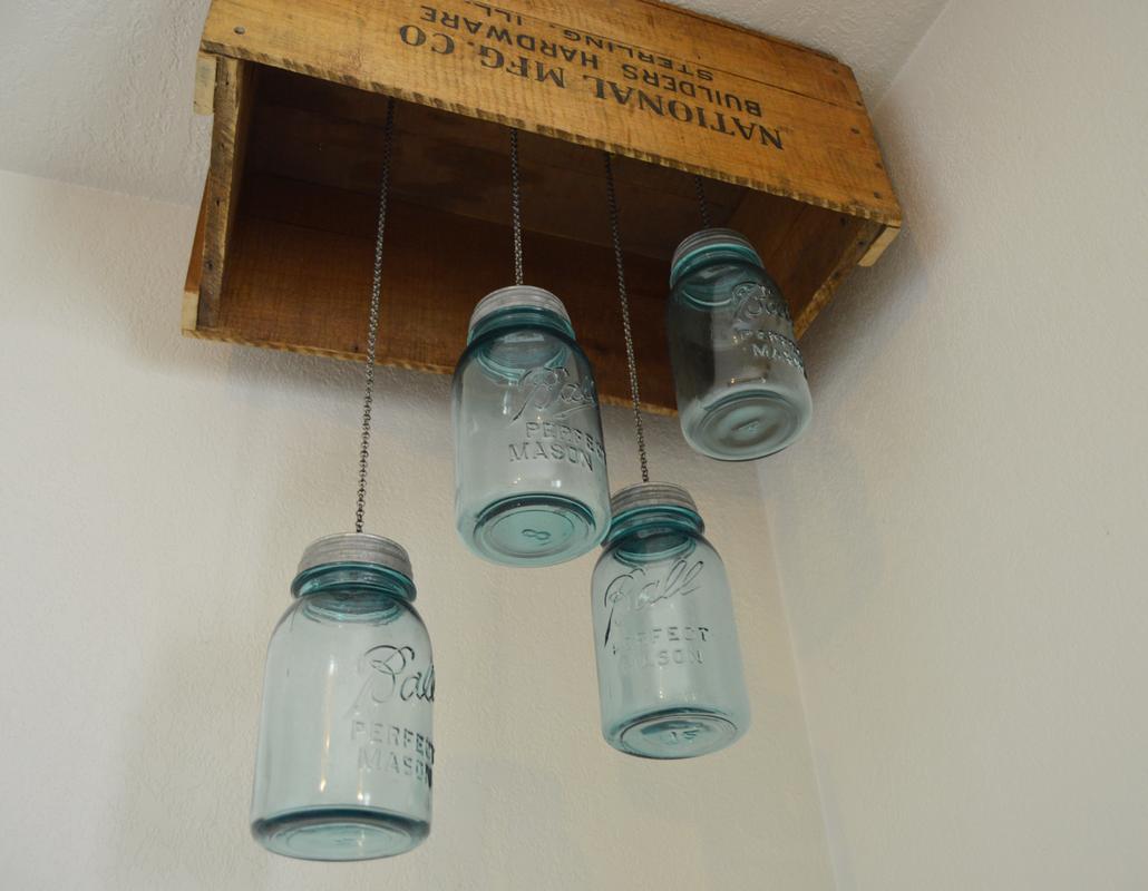 DIY Mason Jar Pendant Tutorial  from The Wannabe Cowgirl Blog