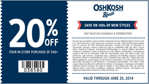 Free Osh Kosh B Gosh Coupons Best Free Stuff Guide Printable Coupons Coupon Apps Coupons