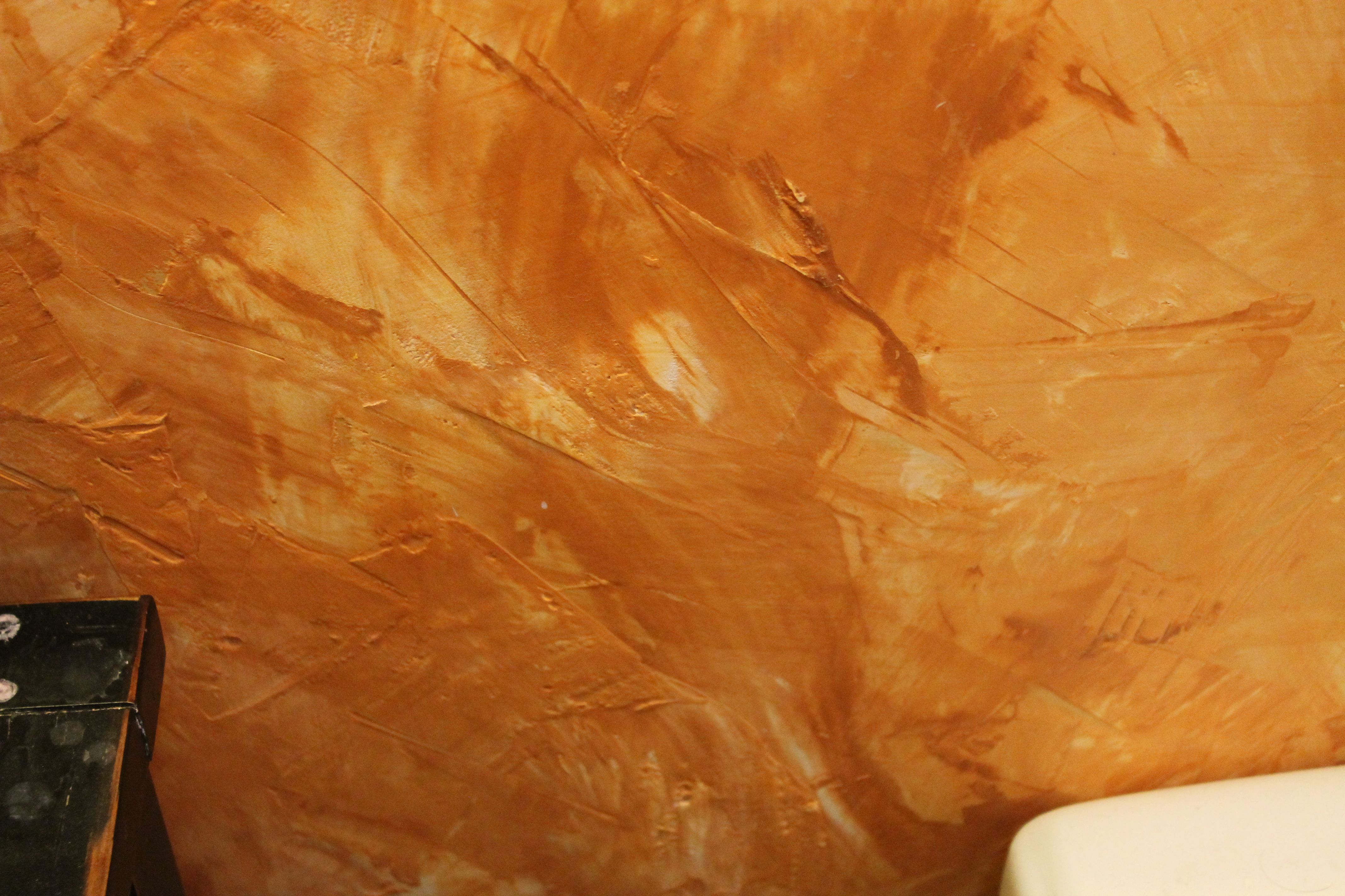Faux plastering using joint compound and concrete