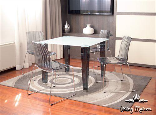 Policarbonato sedie ~ Sedia calima in policarbonato trasparente base in tondino cromato